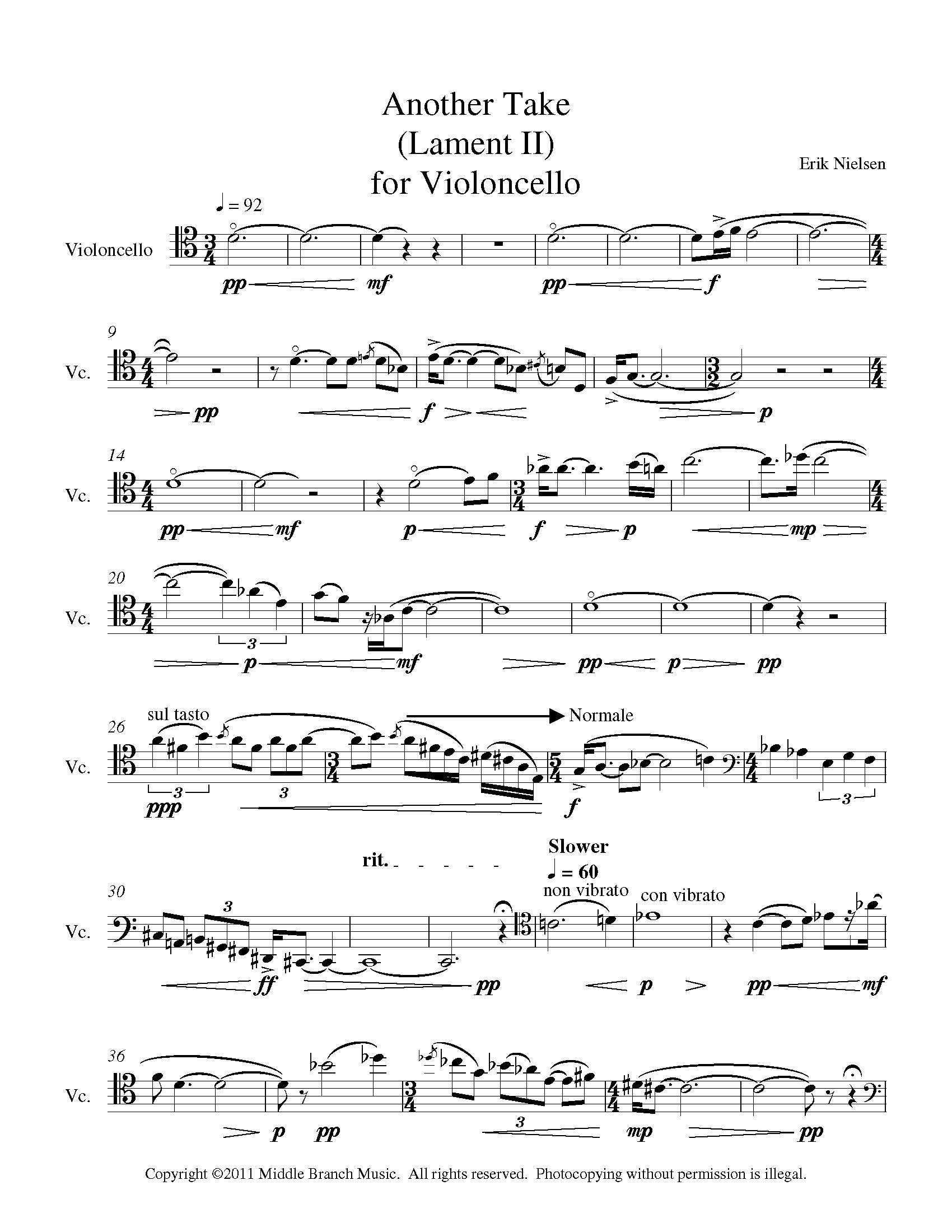 Another Take for Violoncello