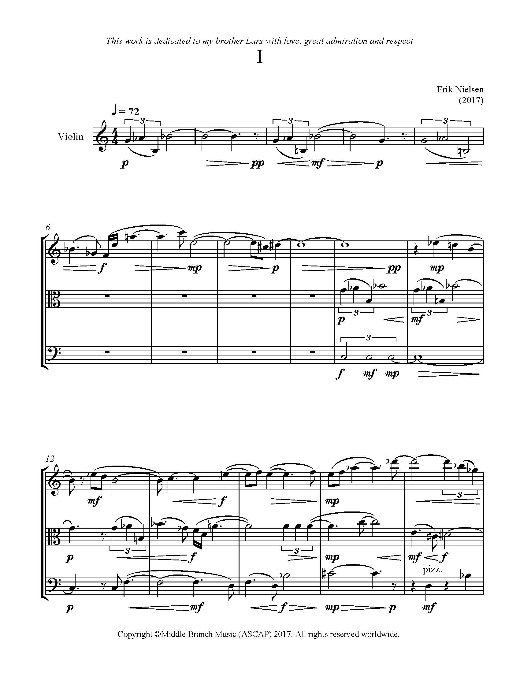 Quartet #1 for Piano and Strings