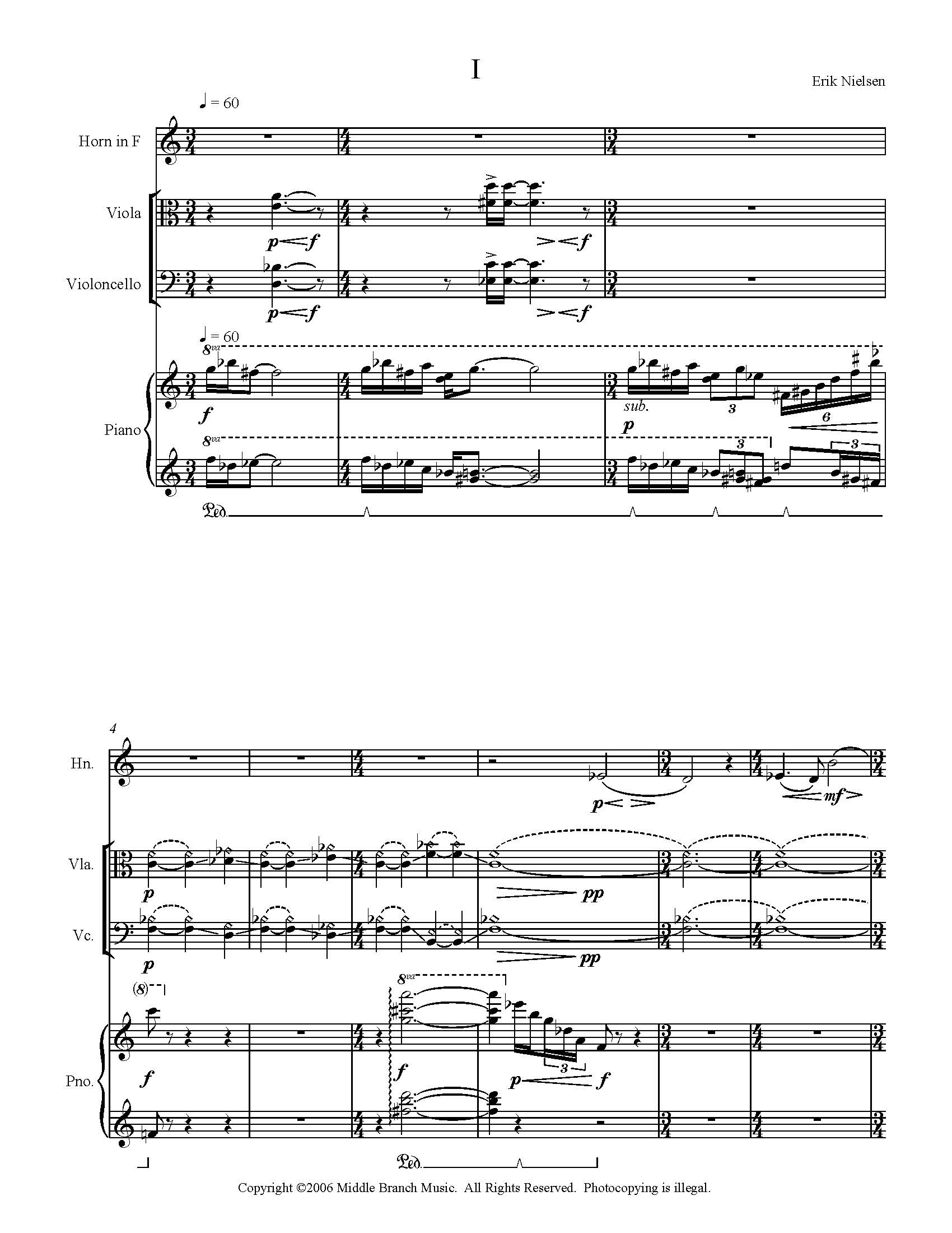Quartet for Horn, Viola, Violoncello and Piano