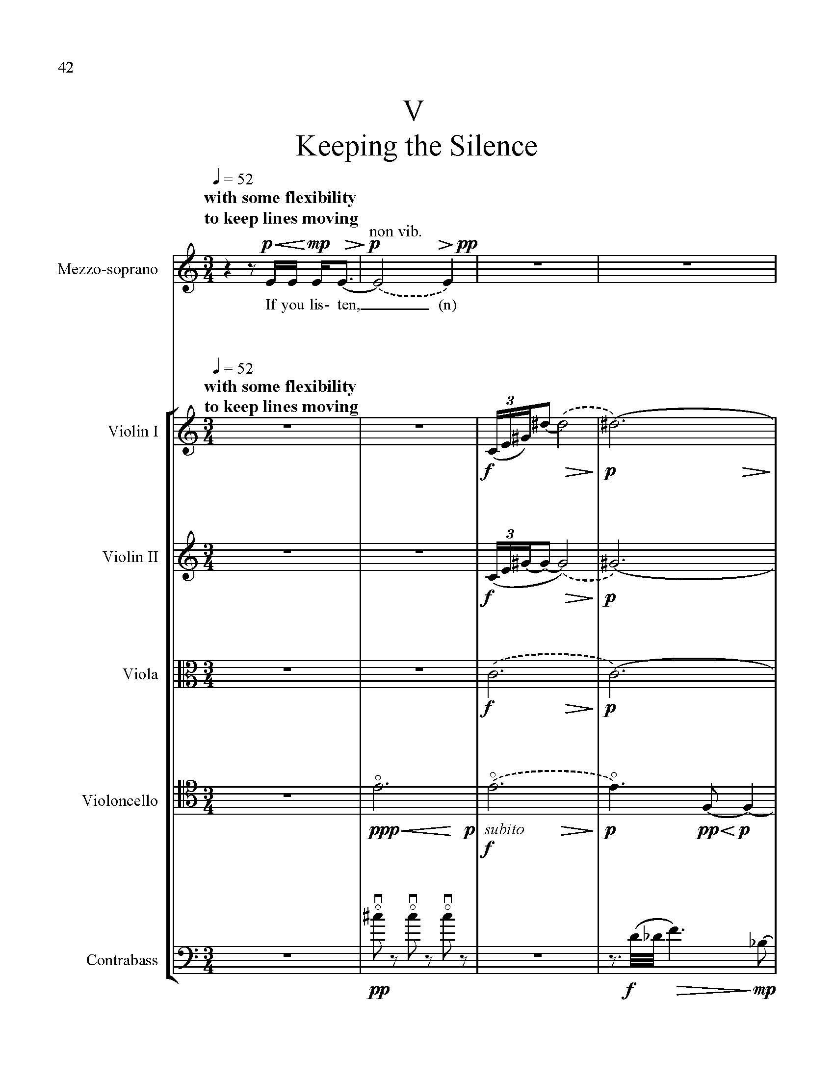Keeping the Silence